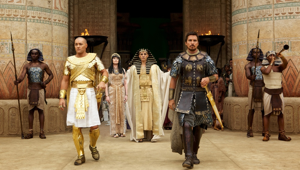 Still of Joel Edgerton and Christian Bale in Exodus: Gods and Kings