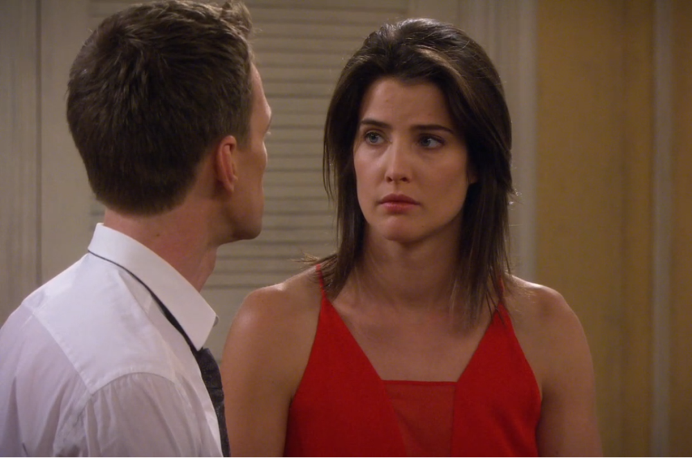 still of robin and barney sad from himym