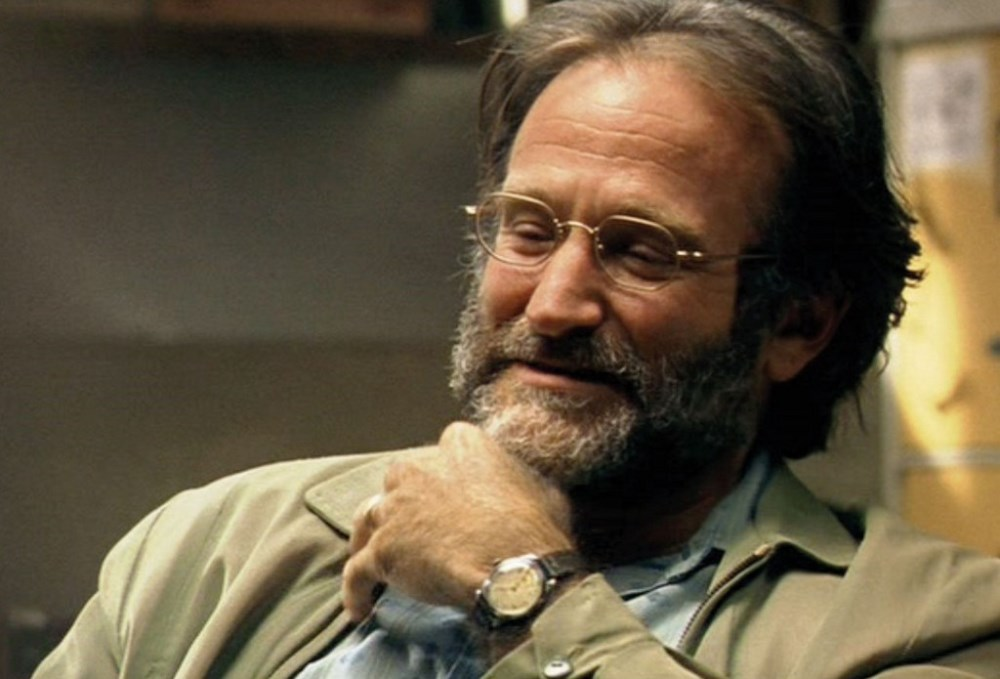 A still of Robin Williams as Sean Maguire in Good Will Hunting