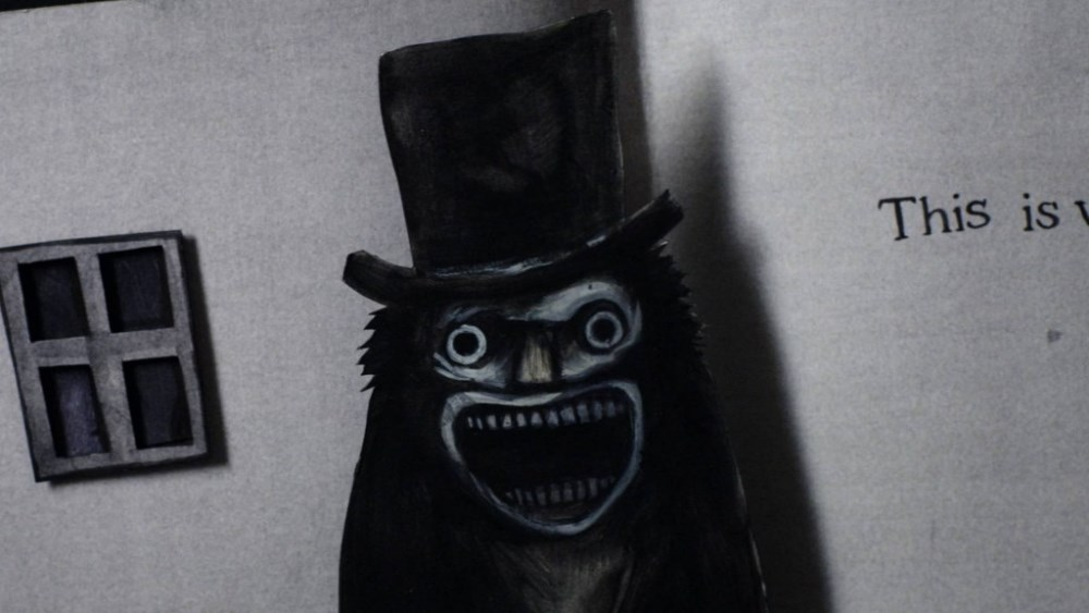 still of the babadook ghost from the book
