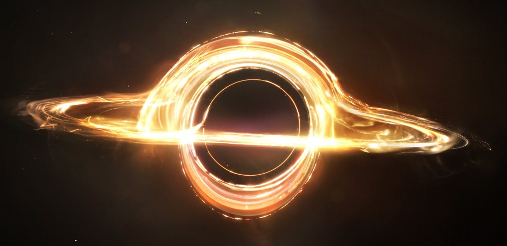 still of black hole in interstellar movie
