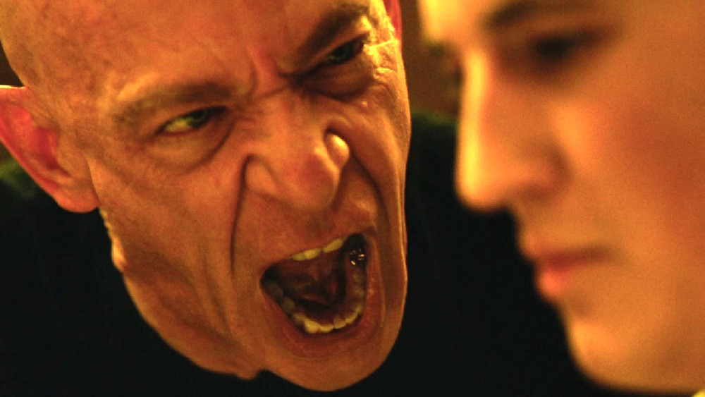 image of J. K. Simmons as Fletcher shouting at Andrew in Whiplash movie
