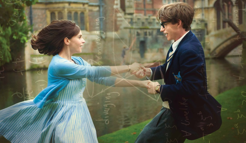 still of Jane Hawking and Stephen Hawking in The Theory of Everything