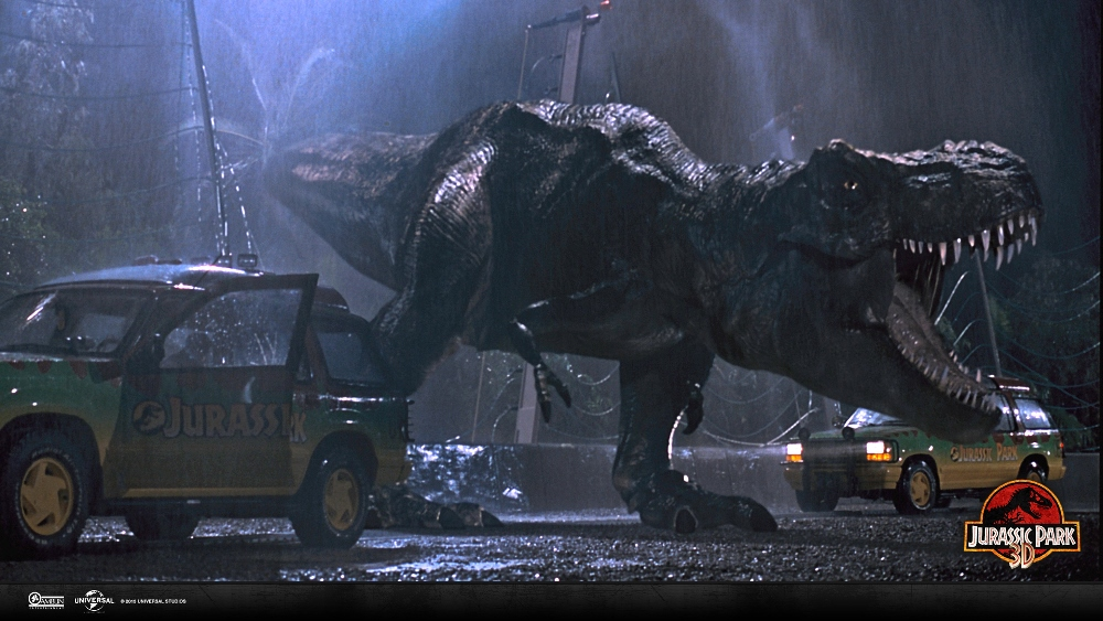 still of T-Rex from Jurassic park