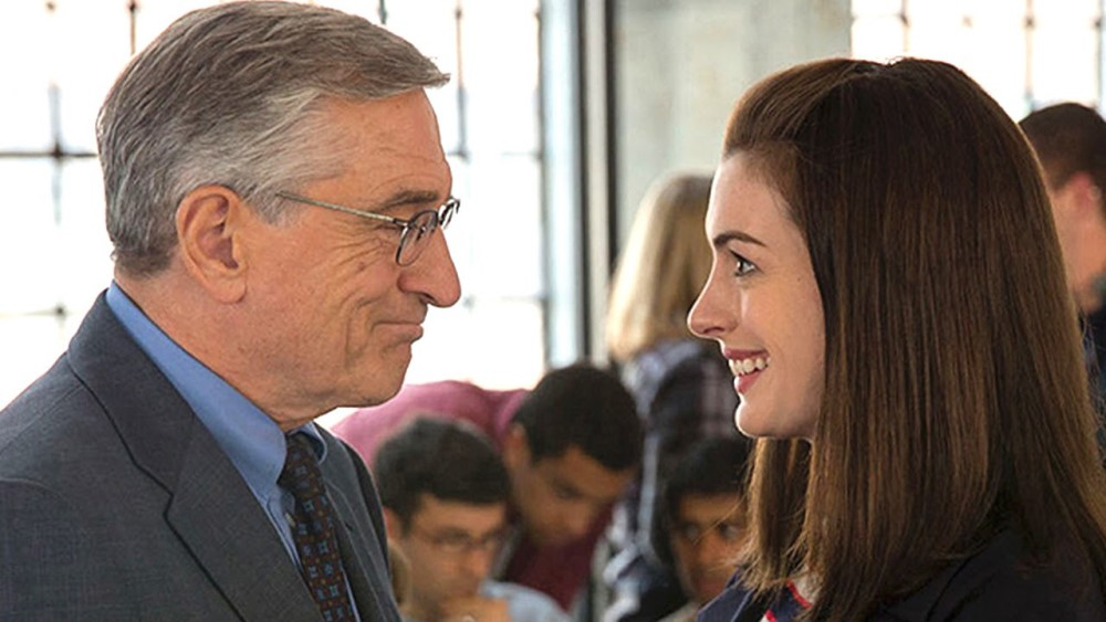 still of robert de niro and Anne Hathaway from the intern movie