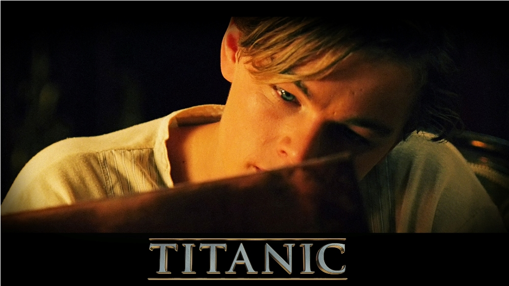still of Leonardo DiCaprio as Jack Dawson in Titanic