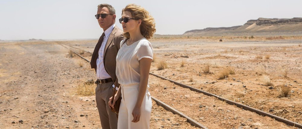 still of spectre movie daniel craig and lea seydoux