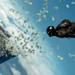 still from point break movie wallpaper money heist sky diving