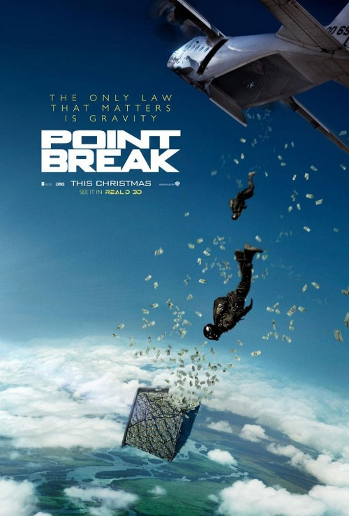 Point break movie poster money sky diving still