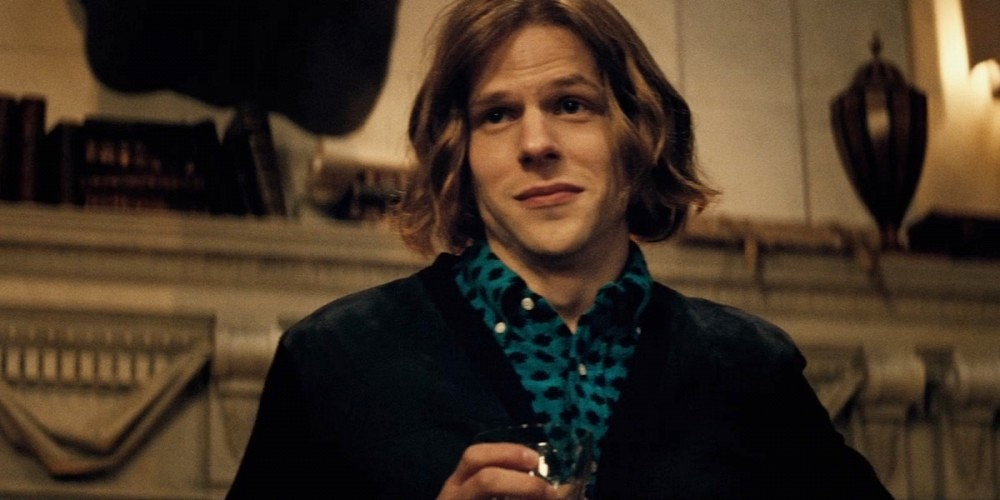 still of Jesse Eisenberg from Lex Luthor in Batman v Superman Dawn of Justice