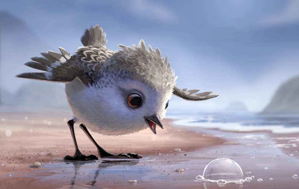still of Piper short by Pixar before Finding Dory movie