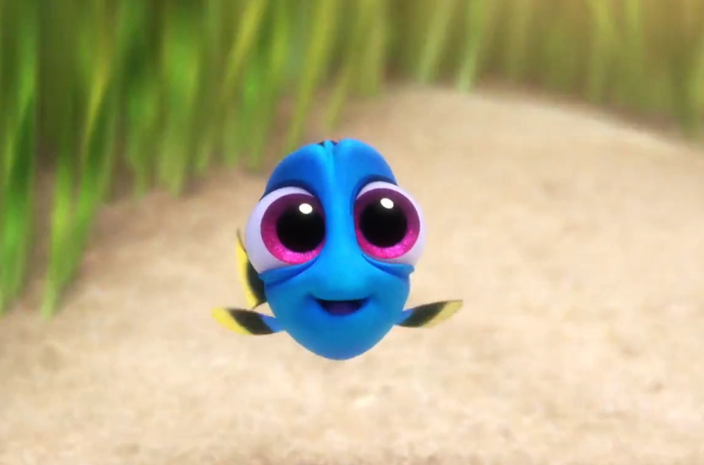 still of baby dory in finding dory movie