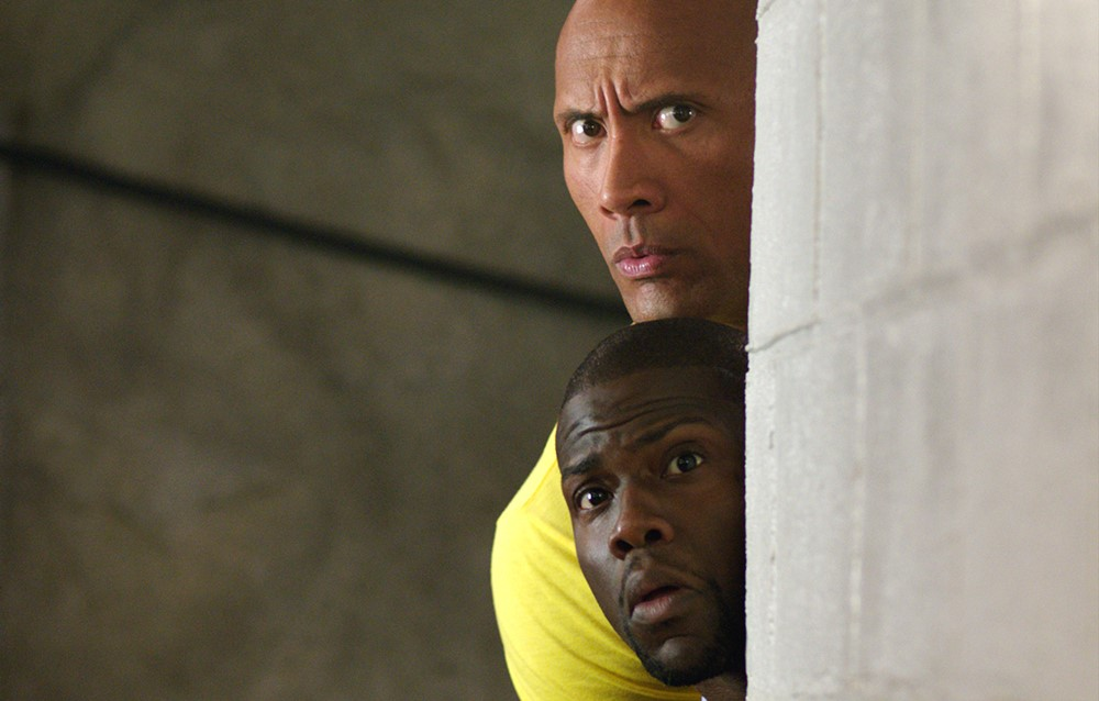 still of kevin hart and dwayne johnson in central intelligence movie