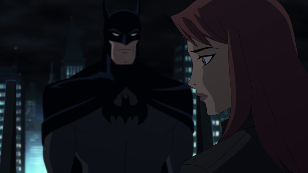 still of barbara gordon with batman in the killing joke