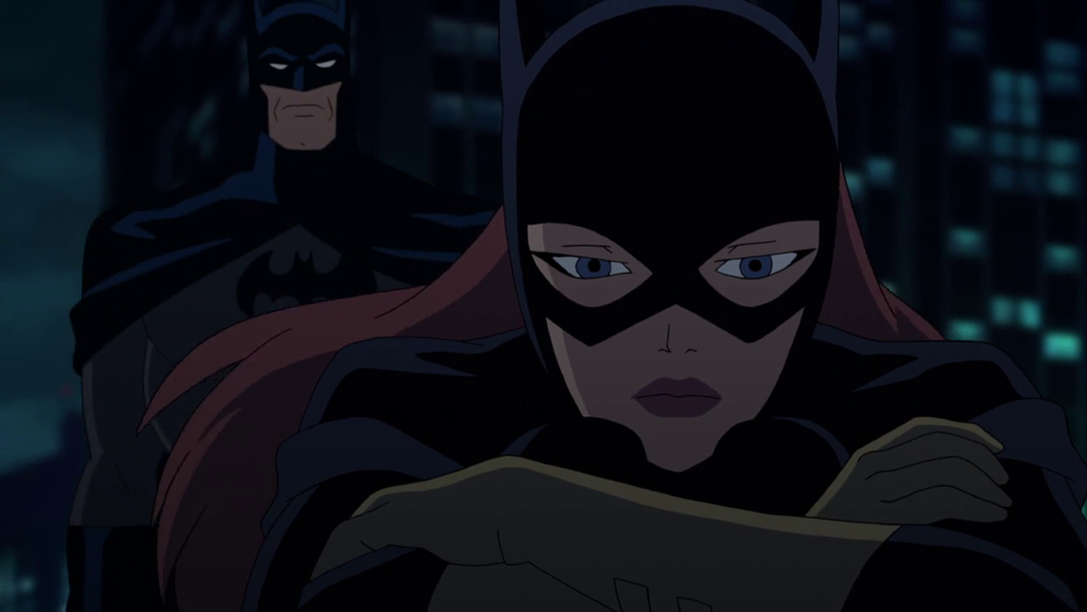 Still of Batgirl and Batman in Batman The Killing Joke