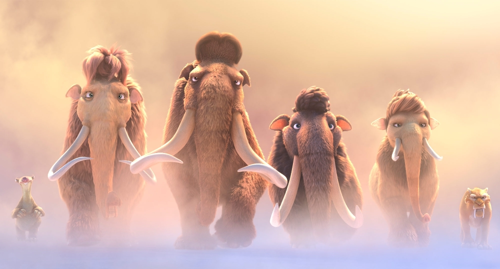 still of ice age collision course characters walking in style