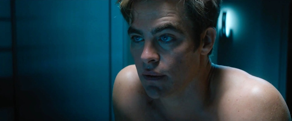 still of Captain James Kirk in star trek beyond movie