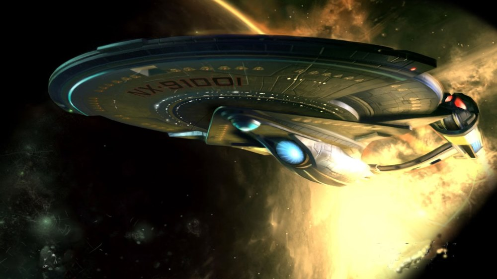 still of USS Enterprise in Star Trek Beyond movie