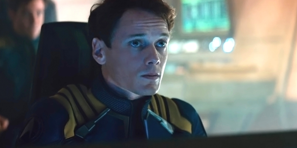 still of Anton Yelchin as Chekov in Star Trek Beyond
