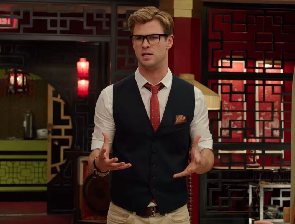 Still of Chris Hemsworth as Kevin in Ghostbusters movie