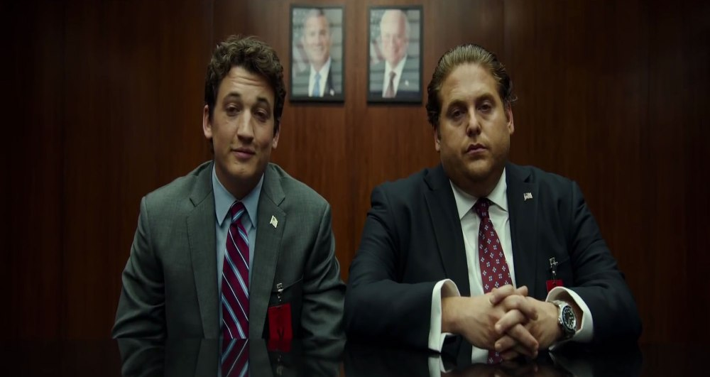 still of jonah hill and miles teller high on weed joint in war dogs
