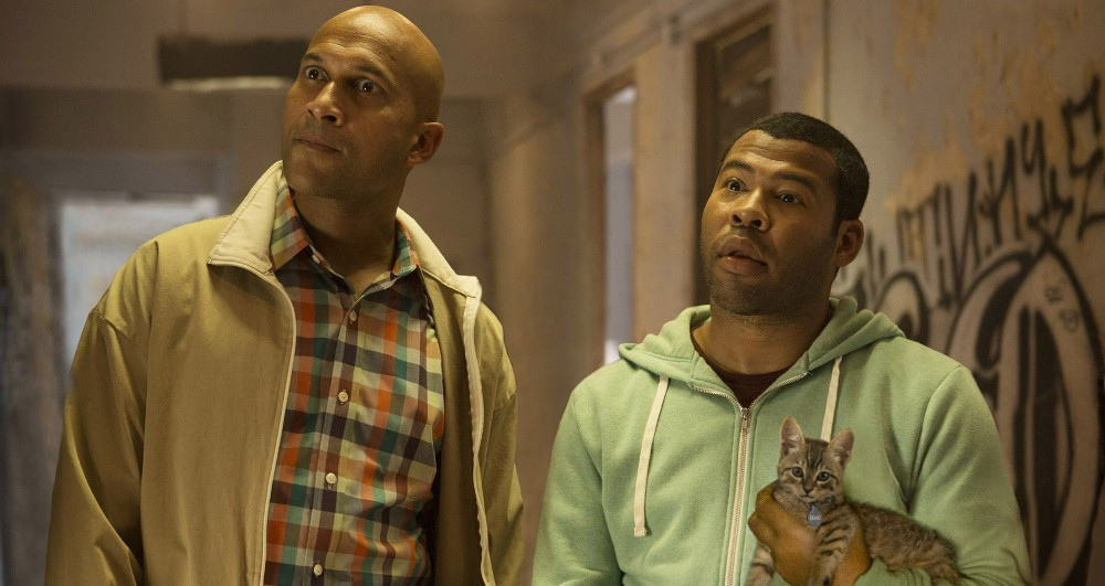 still of key and peele from keanu movie with the cat