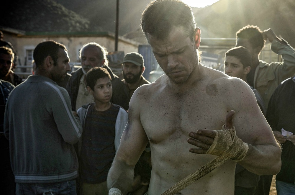 still of Matt Damon as Jason Bourne fighting odd fights in Reykjavik