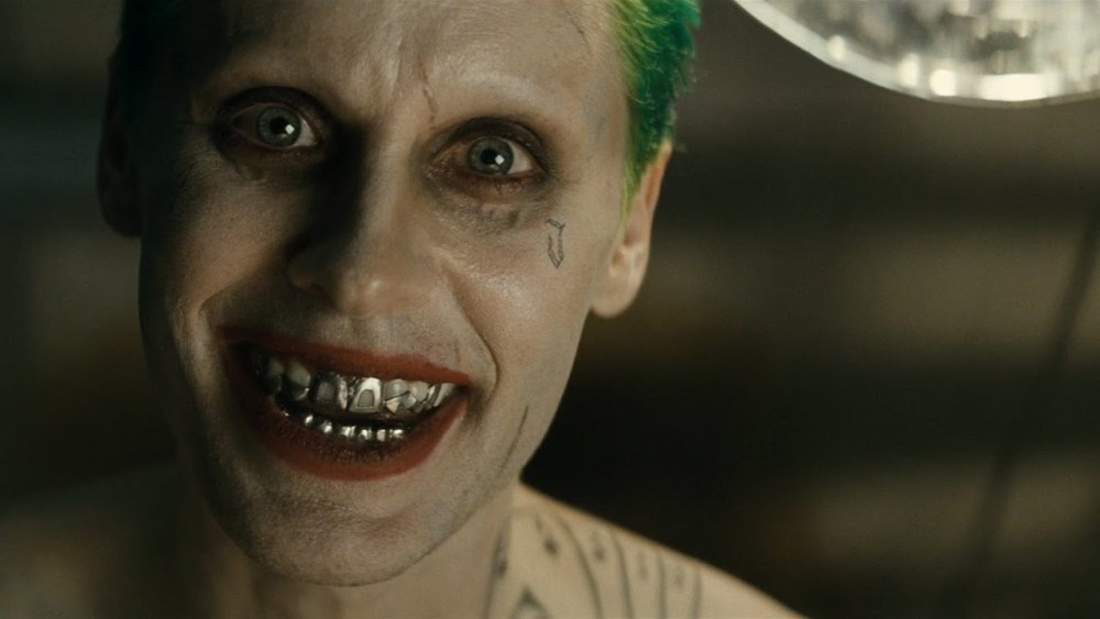 still of Jared Leto as the Joker in Suicide Squad movie