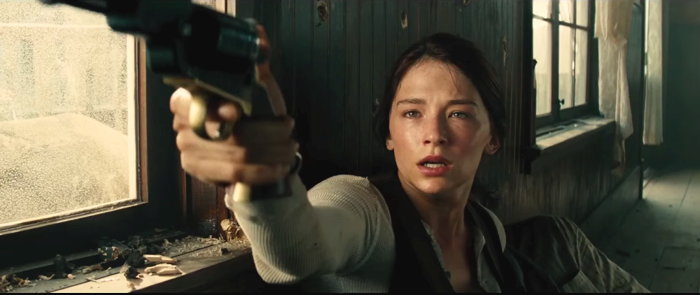 still of haley bennett as Emma Cullen in The Magnificent Seven movie