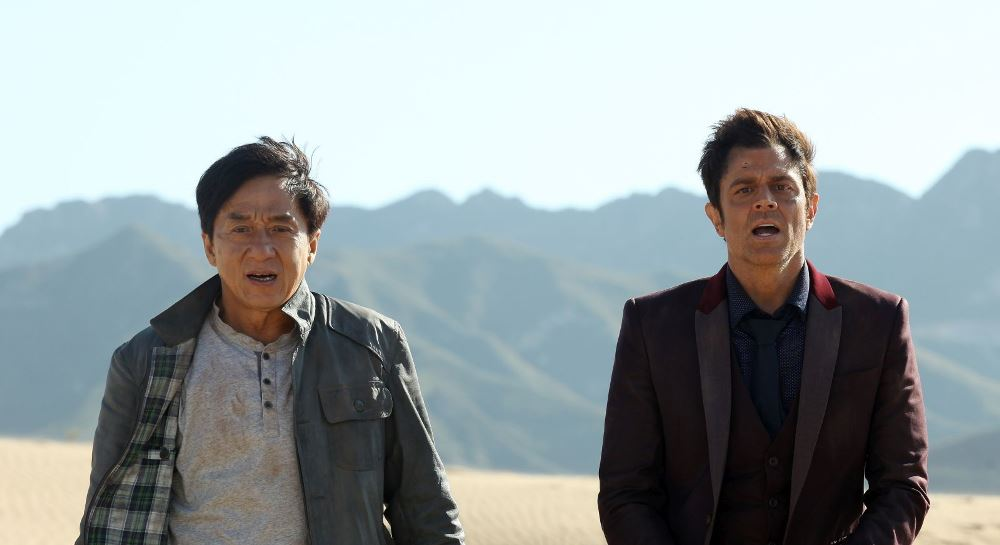 image of Jackie Chan and Johnny Knoxville in Skiptrace movie