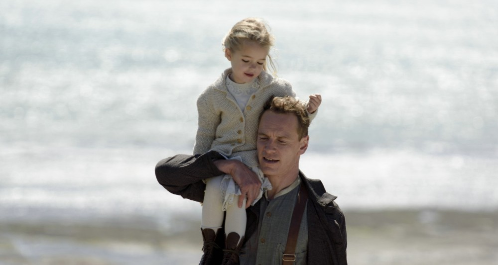 still of florence clery and michael fassbender in the light between oceans movie