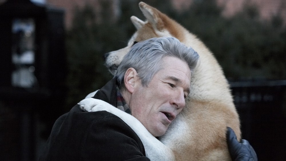 still of richard gere as parker wilson and hachiko dog hachi a dog's tale
