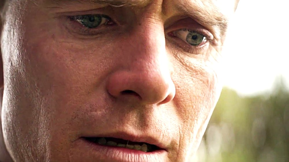 still of michael fassbender in tears in The Light between Oceans movie