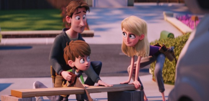 still of nate and his parents in storks movie
