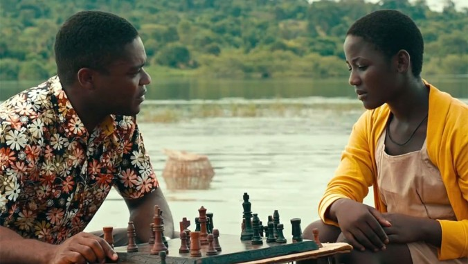 image of Phiona Mutesi Madina Nalwanga and Robert Katende David Oyelowo in Queen of Katwe