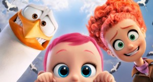 storks movie wallpaper tulip and junior with baby