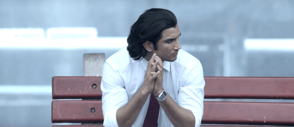 still of sushant singh rajput waiting at the station MS Dhoni movie