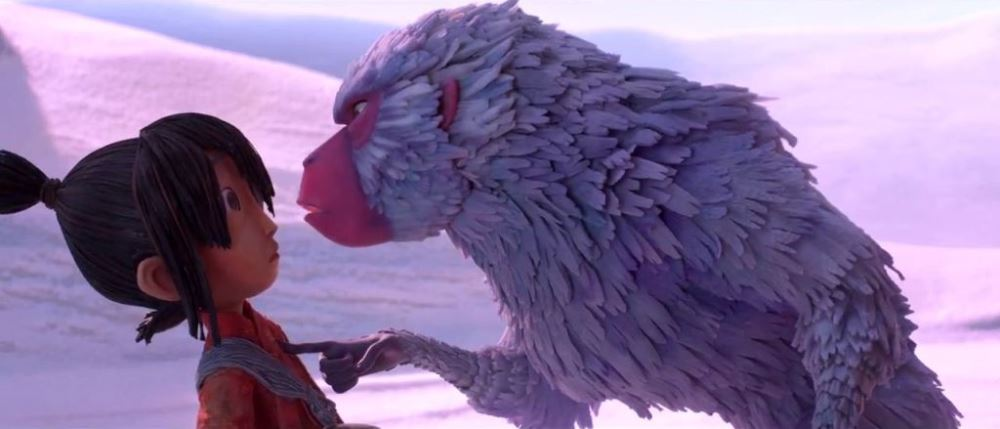 still of monkey and kubo in kubo and the two strings movie