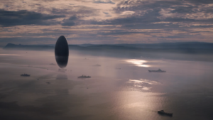 Arrival Movie Wallpaper still of a space ship