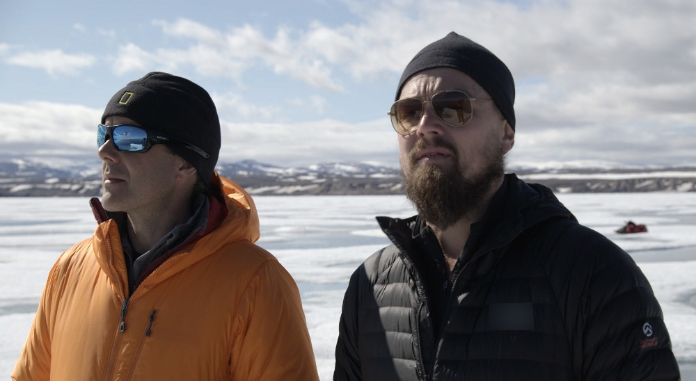 Enric Sala and Leonardo DiCaprio in Before The Flood Movie