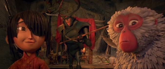 still of all characters from kubo and the two strings movie
