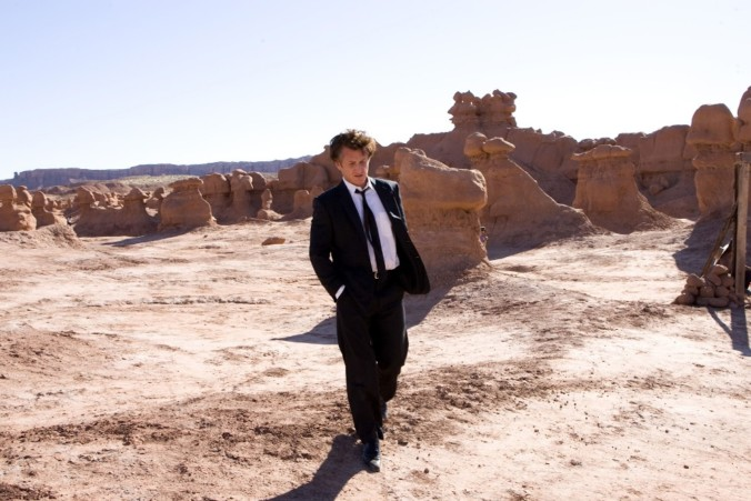 still of Sean Penn in Tree of life movie