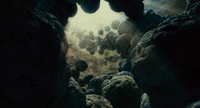 still of cosmos life in tree of life movie