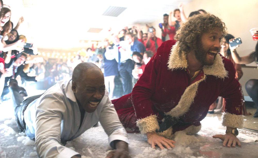 image of T.J. Miller as Clay Vanstone and Courtney B. Vance as Walter Davis in Office Christmas Party