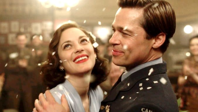 Image of Brad Pitt and Mario Cotillard in Allied Movie