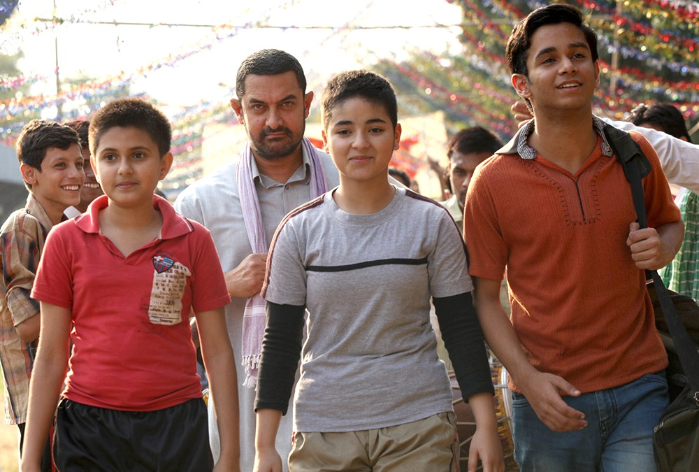 still of Zaira Wasim as Geeta Phogat in Dangal movie