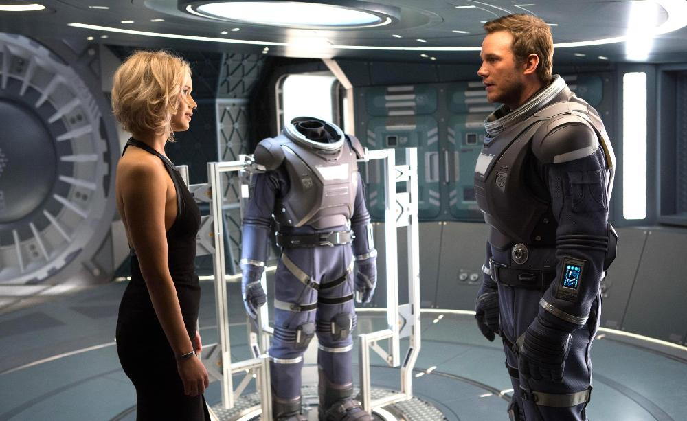 still of Jim Preston and Aurora Lane in Passengers Movie
