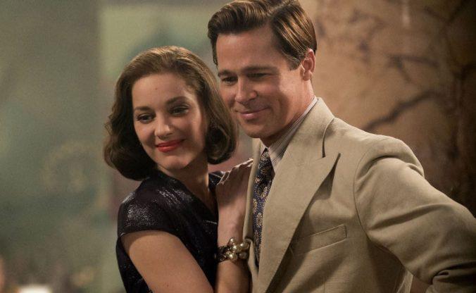 still of Brad Pitt and Marion Cotillard in Allied movie
