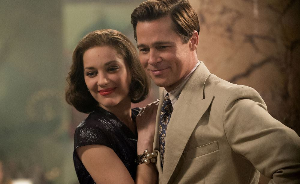still of Brad Pitt and Marion Cotillard in Allied movie