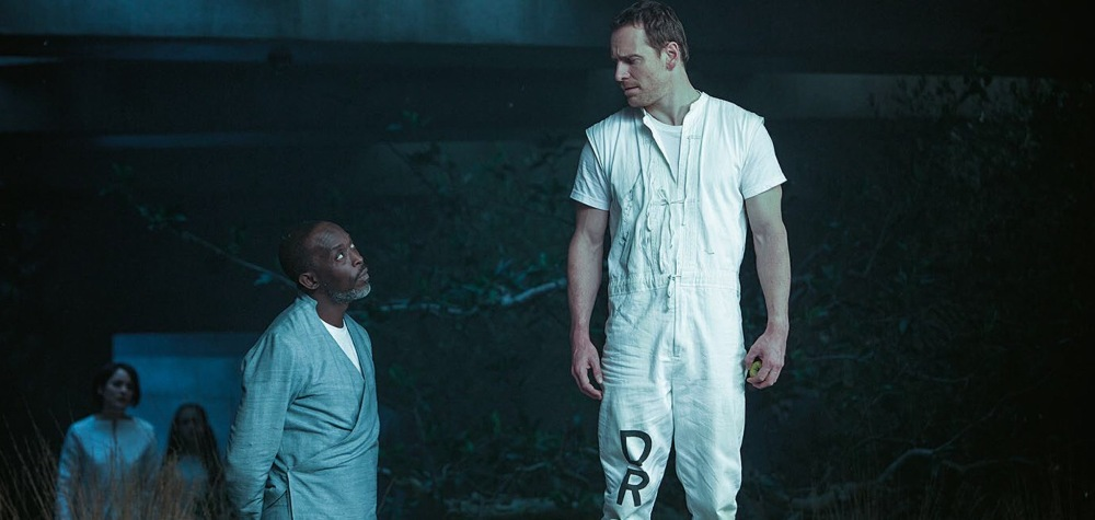 still of michael fassbender and michael K williams in Assassins Creed Movie